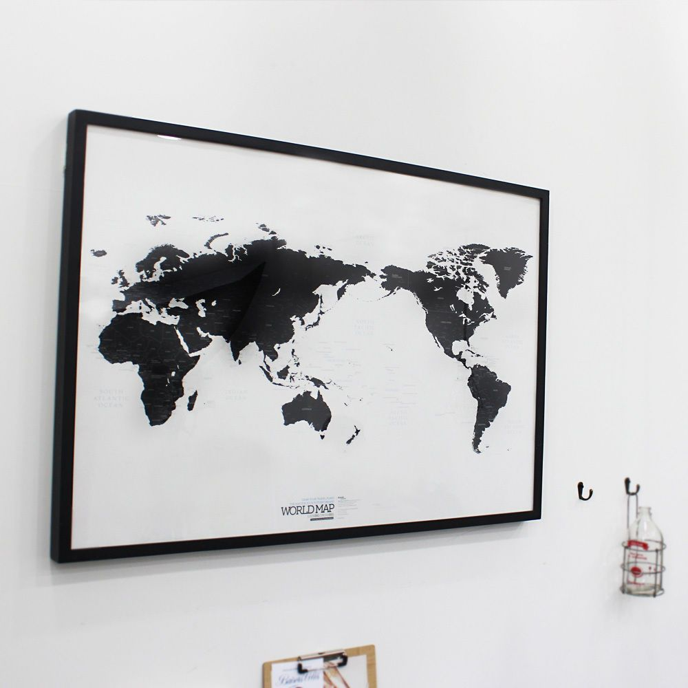 White and black world map simple is the best draw your dreams around black and white world map simple is the best draw your dreams around the world ebay gumiabroncs Image collections