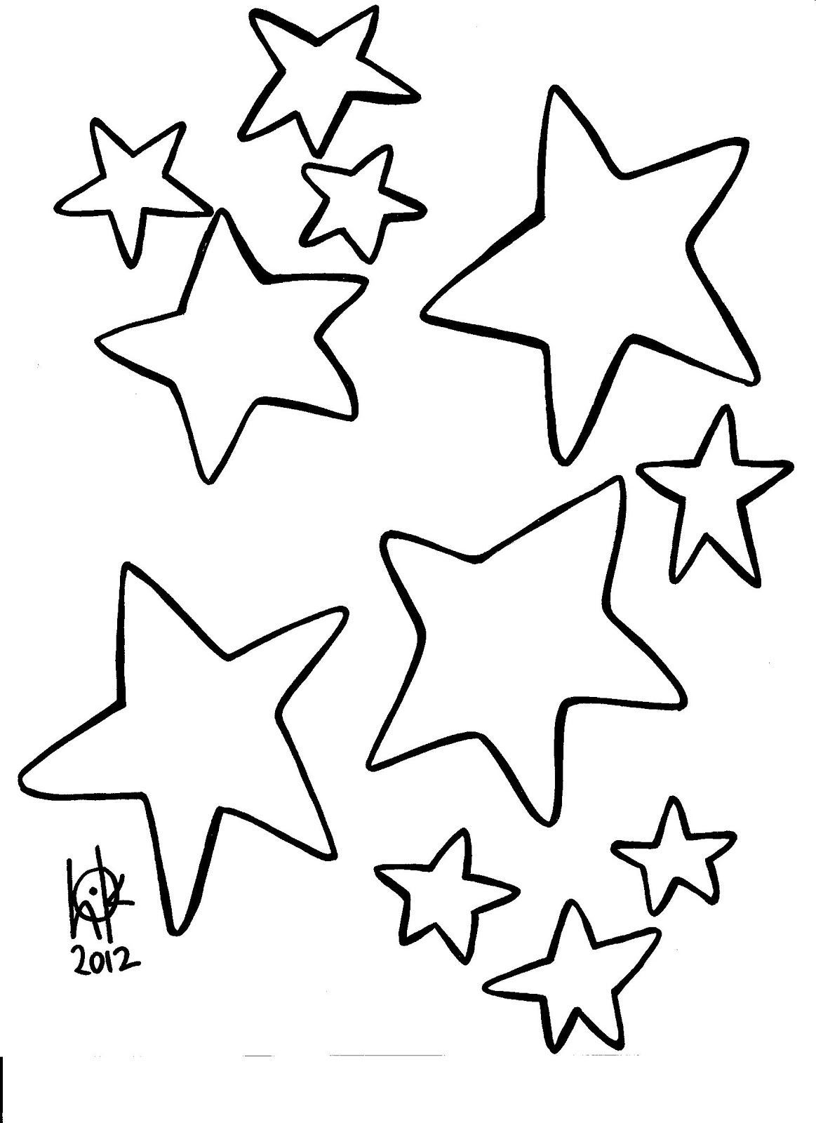 Star Outline Printable Az Coloring Pages With Images Star