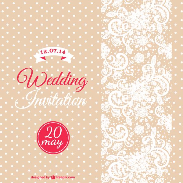 Vector- Wedding Card Template