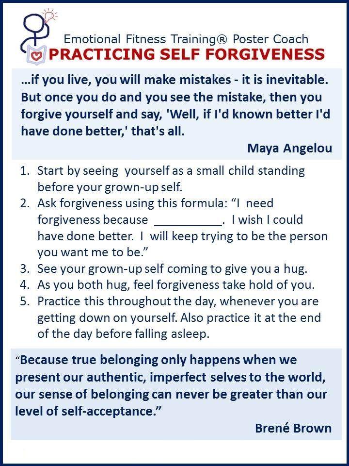 Practicing SelfForgiveness Health Wellness – Forgiveness Worksheet