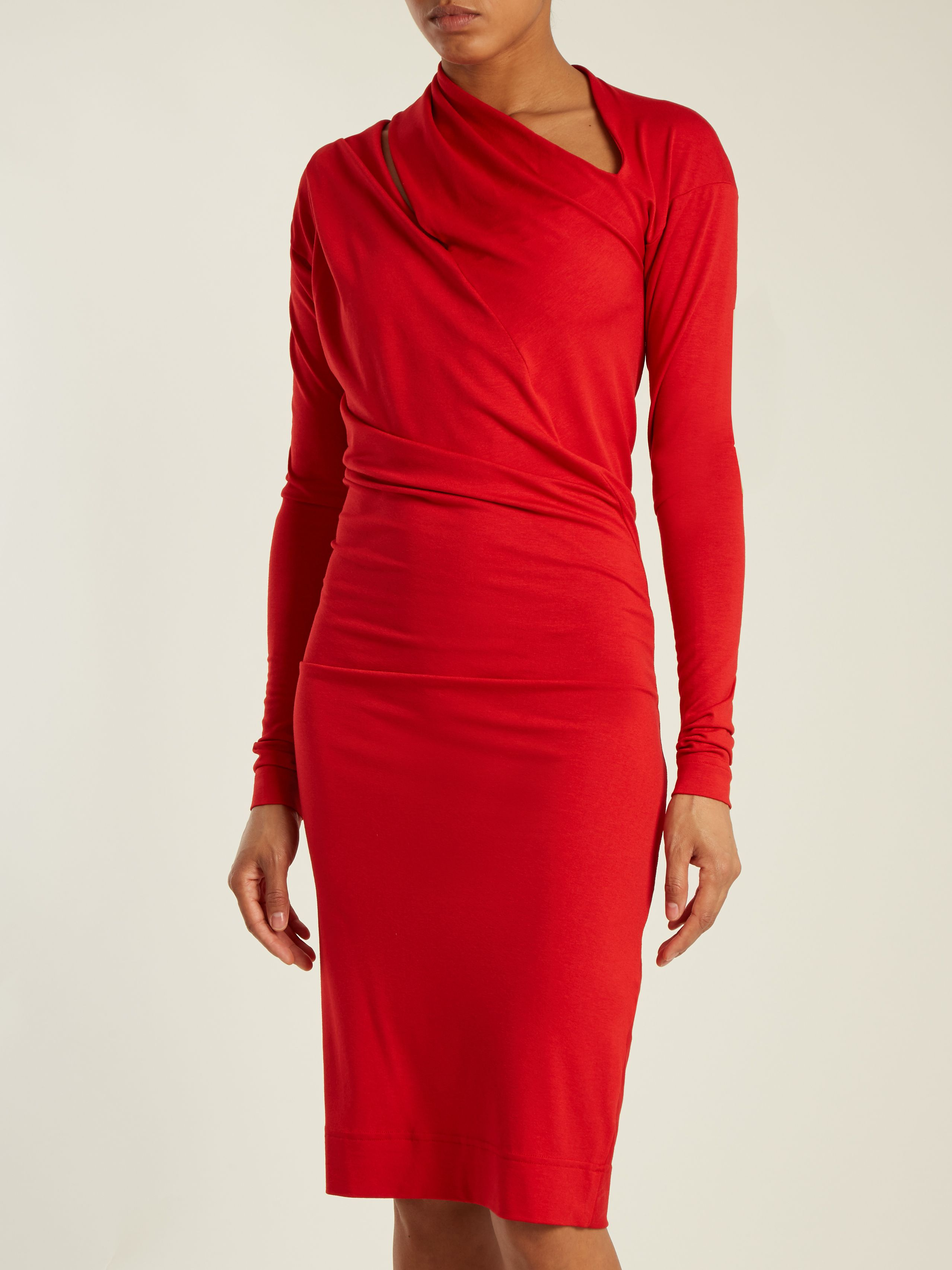 3ea746402d9 Timans asymmetric jersey dress