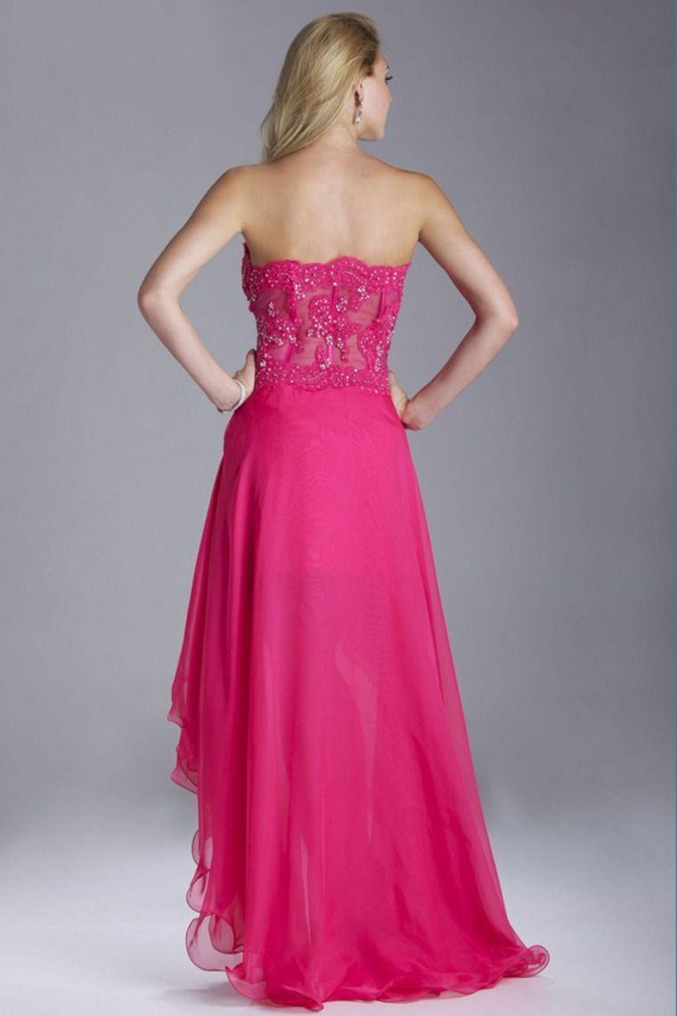 2014 Sweetheart A Line Prom Dress With Beaded Applique And High Low ...