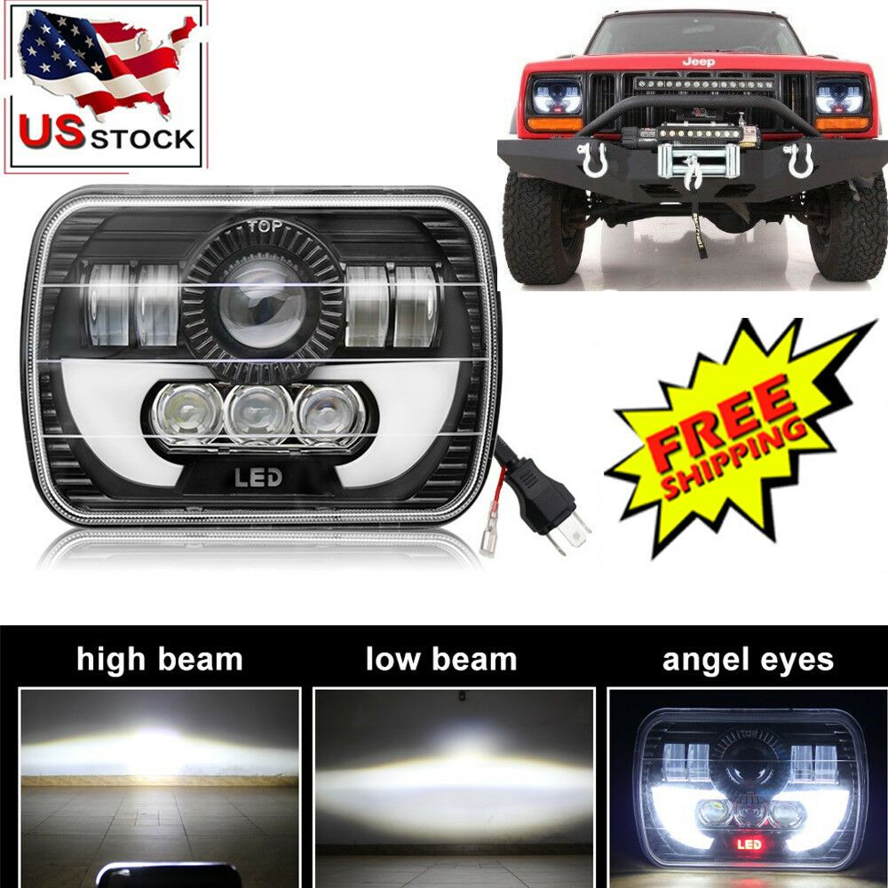 eBay #Sponsored 7x6 5X7 CREE LED Headlight Halo DRL For 86