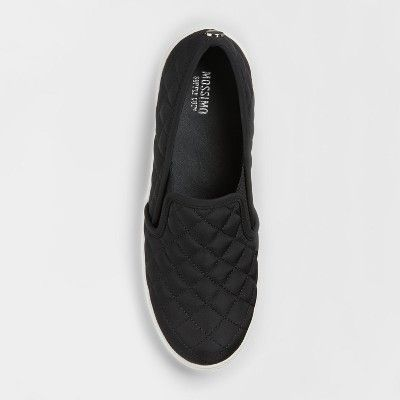 ed58e62e434f Women s Reese Nylon Slip On Sneakers - Mossimo Supply Co. Black 7.5 ...