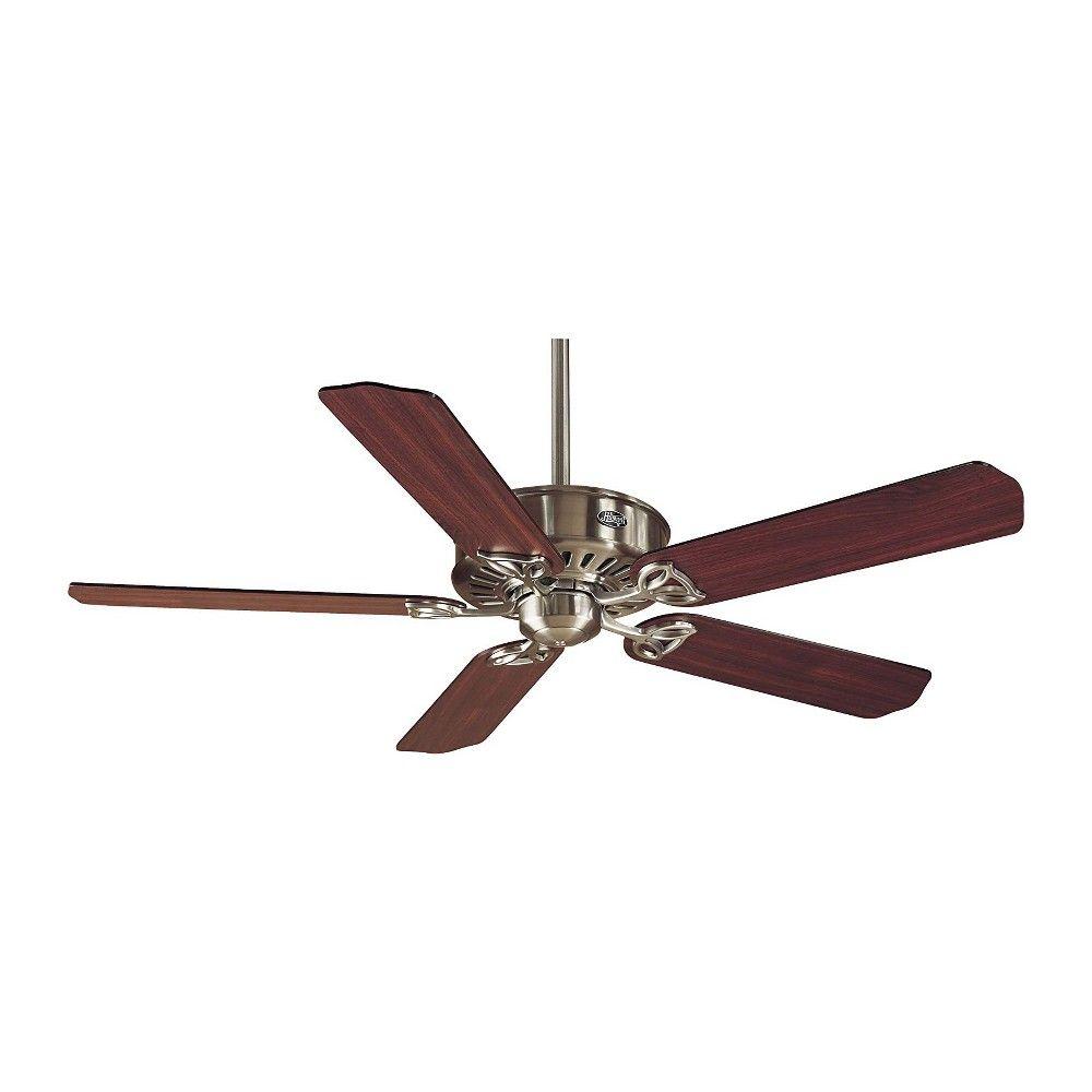 Hunter 23254 Paramount 54 Inch 5 Blade Reversible Ceiling Fan Cherry Chestnut Brushed Nickel Ceiling Fan Ceiling Fan Fan