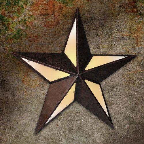 Texas Star Metal Lighted Wall Decor - Outdoor Wall Art at ...