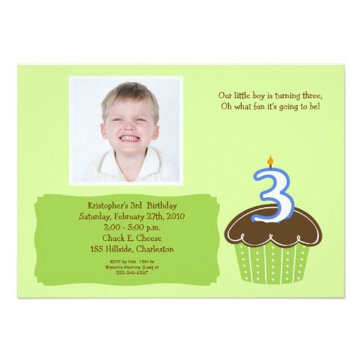Cool 3 Years Old Birthday Invitations Wording Download this