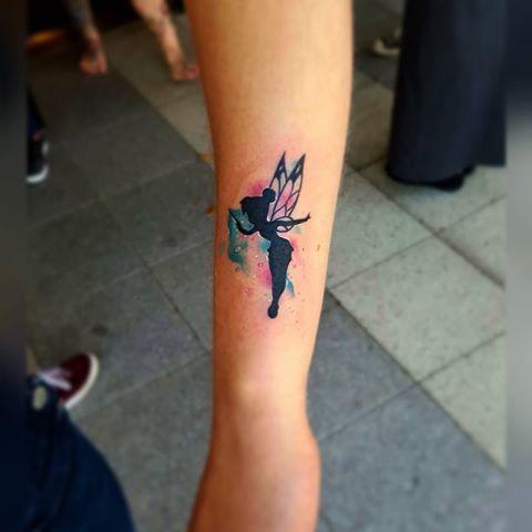 Watercolor Fairy With Fairy Dust Tattoo On Sleeve Fairy Tattoo