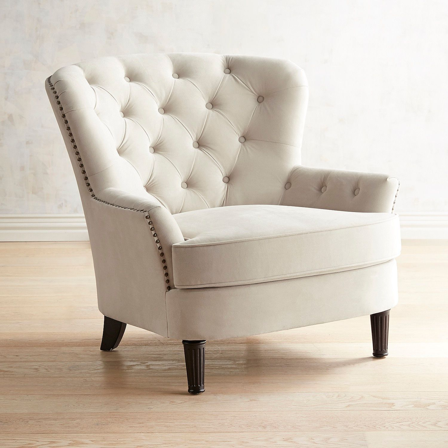 Eliza Cream Tufted Armchair Tufted Arm Chair Upholstered Chairs Small Upholstered Chair