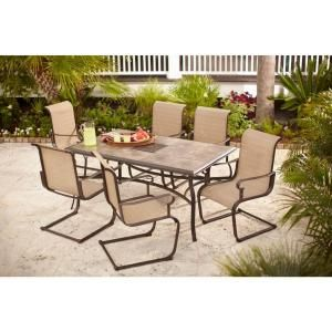 Hampton Bay Belleville 7 Piece Patio Dining Set Fcs80198st At The