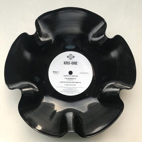 Record Bowl - Classic Hip Hop 12 Vinyl - Vintage 90's Hip Hop Vinyl Collectible - KRS-One - KRS-One 12 LP #pictureplacemeant