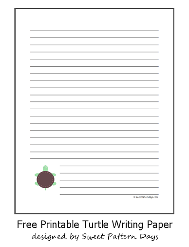 printable turtle writing paper education ideas  printable turtle writing paper