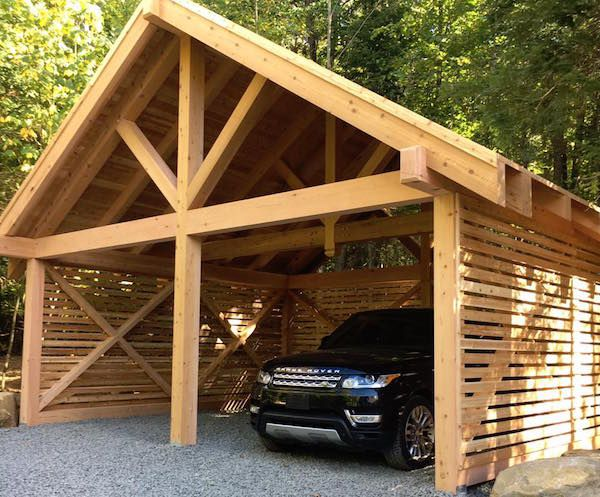Three Cedar Projects In Three Days With Colin Justin Real Cedar Carport Designs Carport Garage Diy Carport