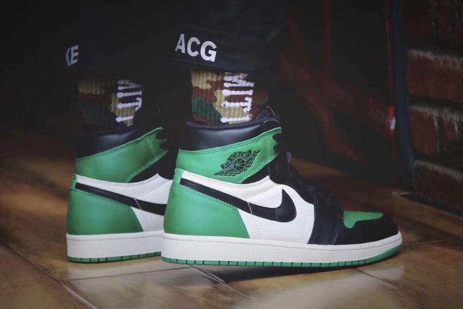 An On Feet Look At The Air Jordan 1 High Pine Green Air Jordans Jordan 1 Retro High Cheap Jordan Shoes