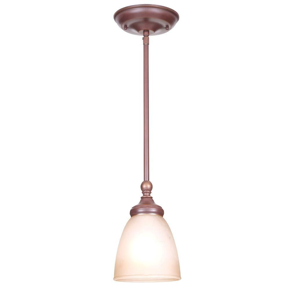 Hampton Bay Bristol 1 Light Nutmeg Bronze Mini Pendant With