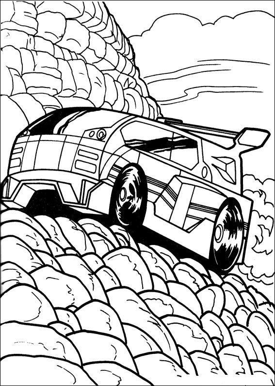 Hot Wheels Fargelegging for barn. Tegninger for utskrift og fargelegging nº 13