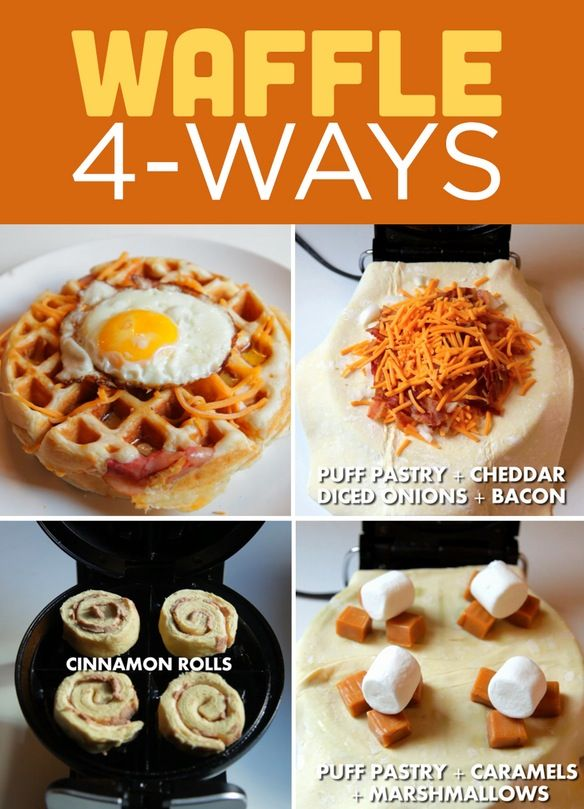 Love Puff Pastry And My Waffle Iron Never Thought About Putting It Together Must Try Waffle Iron Recipes Yummy Food Waffle Maker Recipes