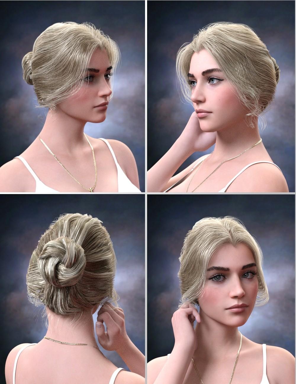 Aurelia Bun Hair For Genesis 8 Female S 3d Models And 3d Software By Daz 3d In 2020 Bun Hairstyles Hair Styles Natural Hair Styles