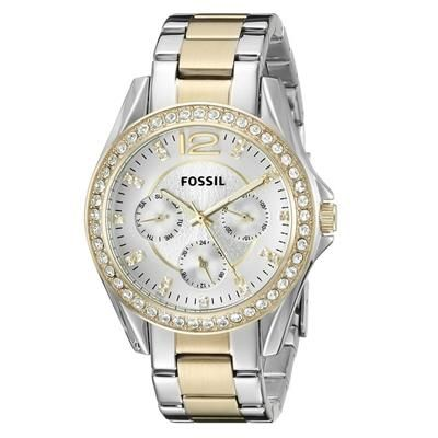 365b544ff66 Fossil Women s ES3204 Riley Silver and Gold Tone Watch