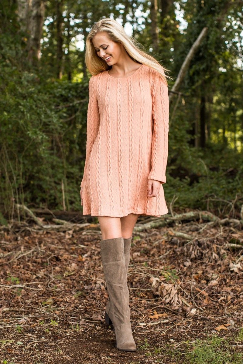 Pink sweater dress outfit  My Everything Blush Pink Sweater Dress at reddressboutique