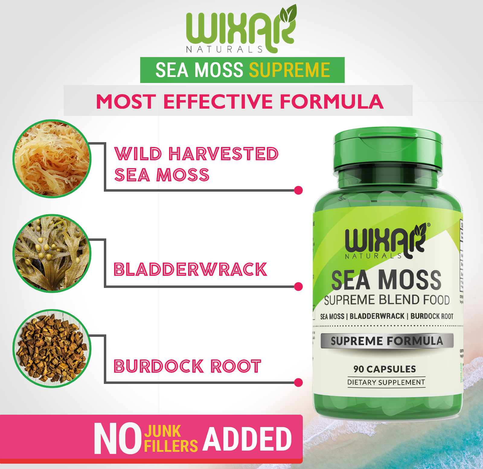 Bladderwrack Burdock Root Sea Moss Powder Sea Moss Moss Burdock Root