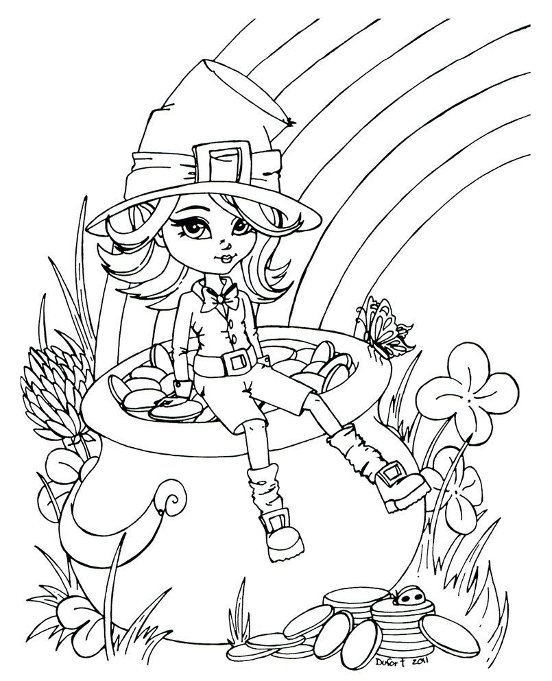 Pot Of Gold Coloring Pages Coloring Pages For Girls Coloring Books