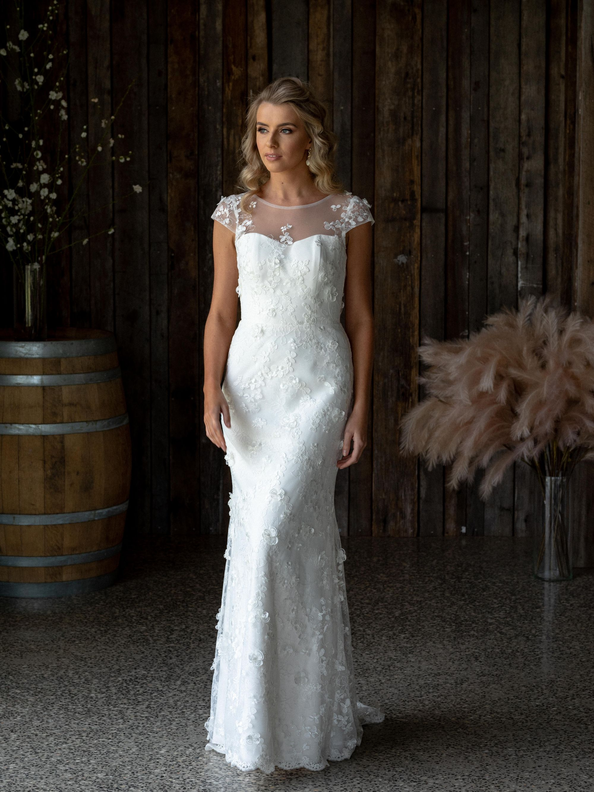 Our Angelina Bertossi Brides Gown Created In Delicate Italian