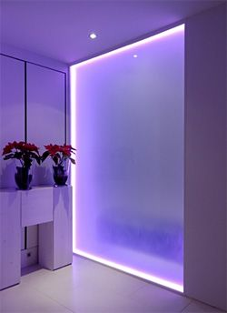 Led Glass Interiors In 2019 Glass Partition Wall