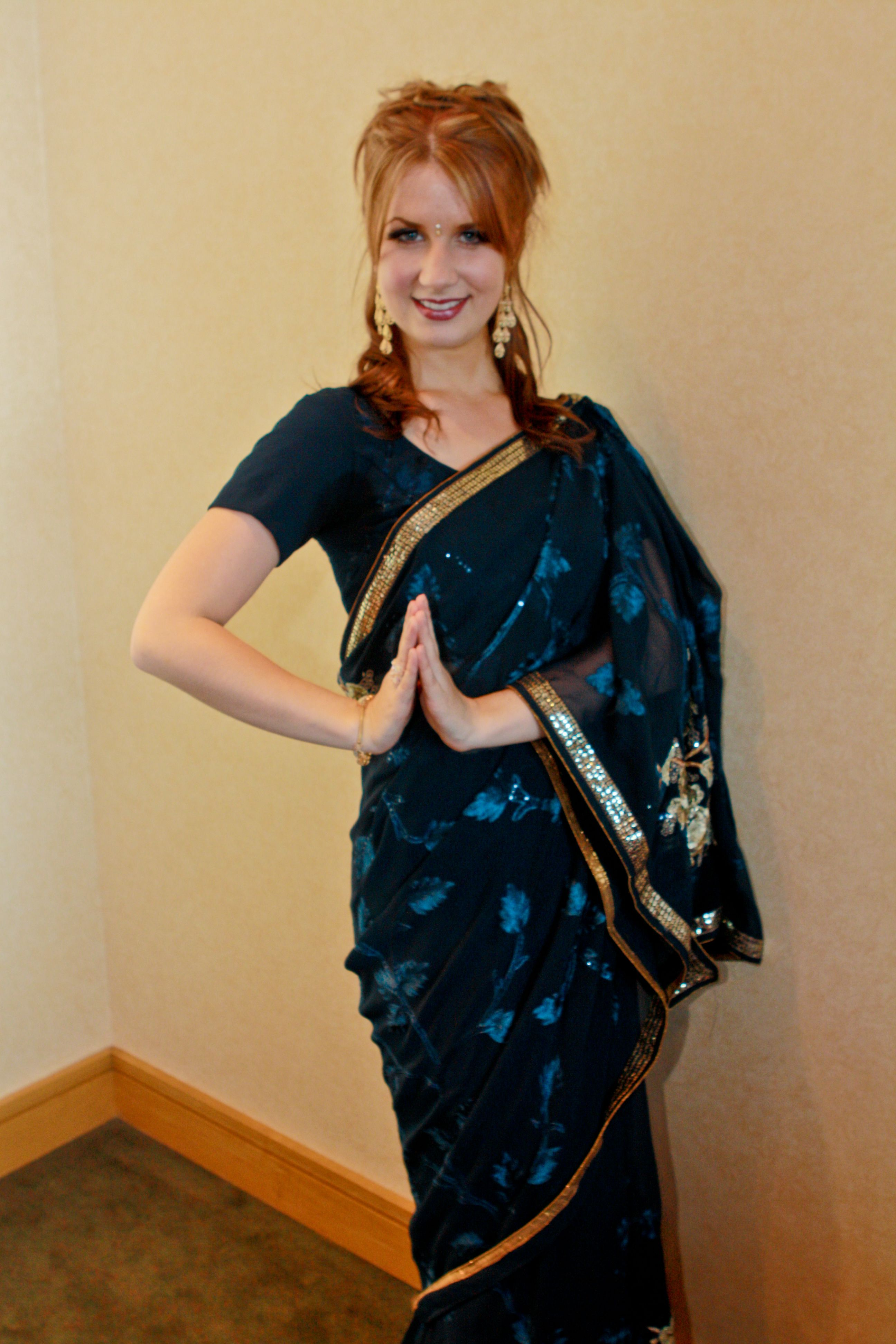 I had this sari made for me in New Dheli. For my Global Fashion Show I produced to raise money for immigrant and refugee programs.