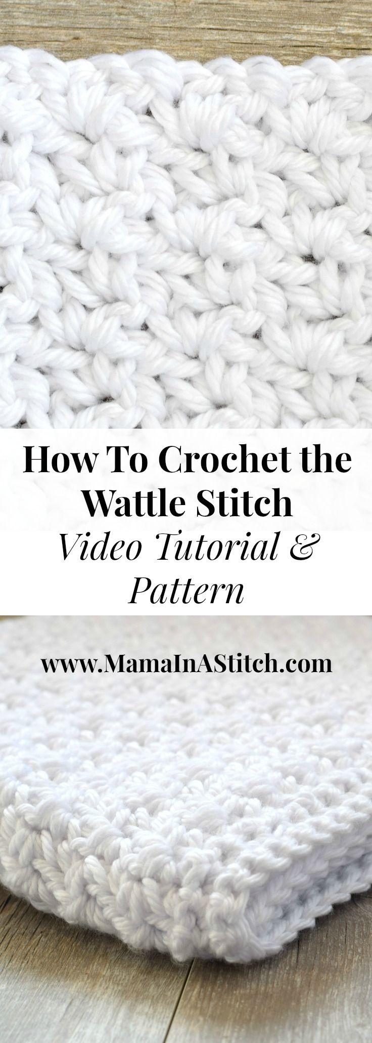 how-to-crochet-tutorial-wattle-stitch | Puntadas | Pinterest ...