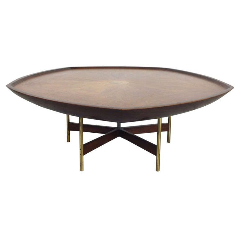 Vintage Baker Coffee Tables: Outstanding Pentagon Coffee Cocktail Table By Paul Tuttle