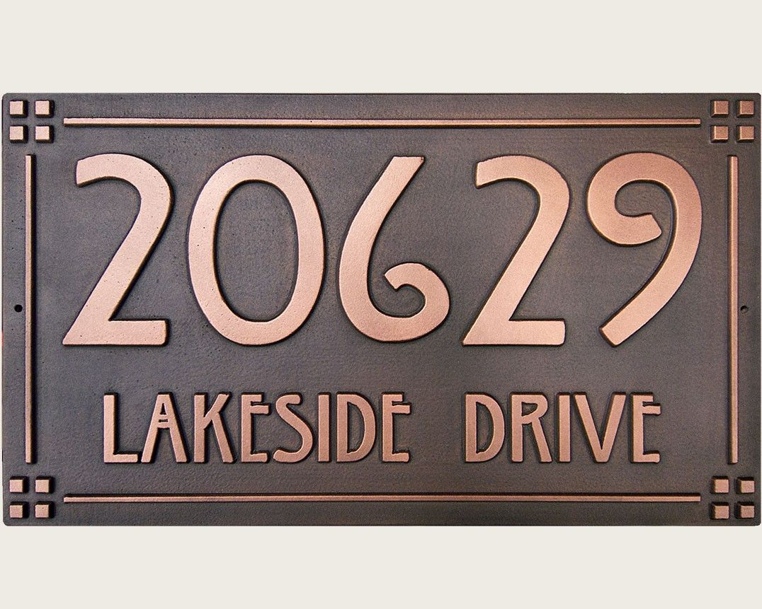 Pin By Elizabeth Fondelier On Home Craftsman House Numbers Address Plaque Copper House