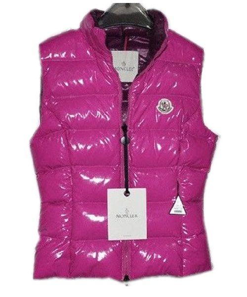 Moncler Chany Down Vest Women Zip Short Pink  2781487  - £114.55 ... 67479db3d4