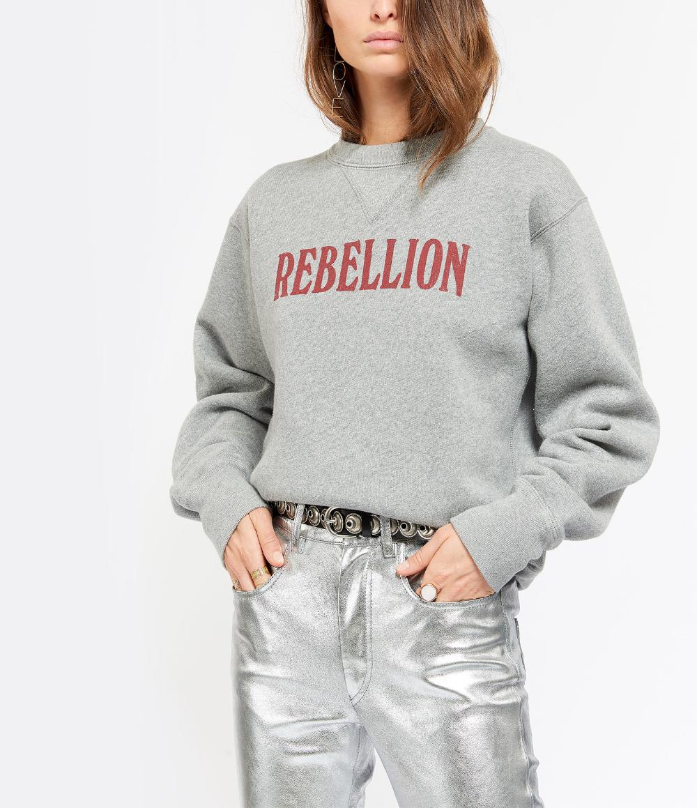 Sweatshirt Rise Coton Gris en 2020   Sweat shirt, Gris et