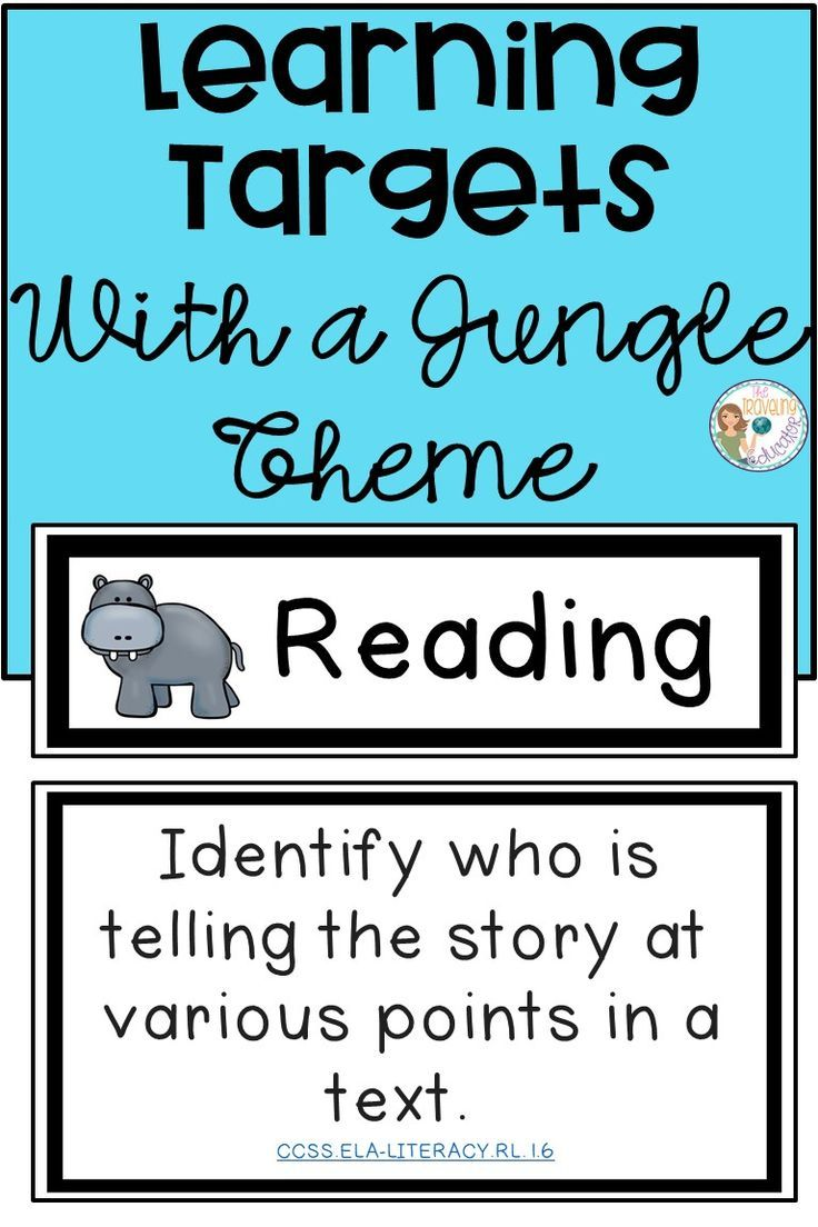 Learning Targets: Jungle Theme | TPT Pinning Board | Pinterest