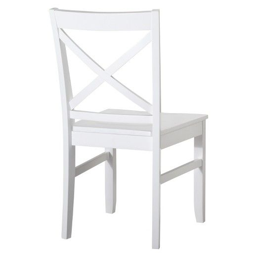 Peachy Carey Dining Chair White Set Of 2 Threshold Dine In Pabps2019 Chair Design Images Pabps2019Com