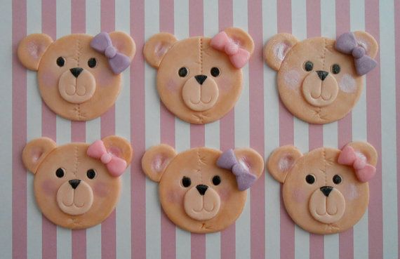 Bear Friends Edible Cupcake Toppers Decoration Other Baking Accessories