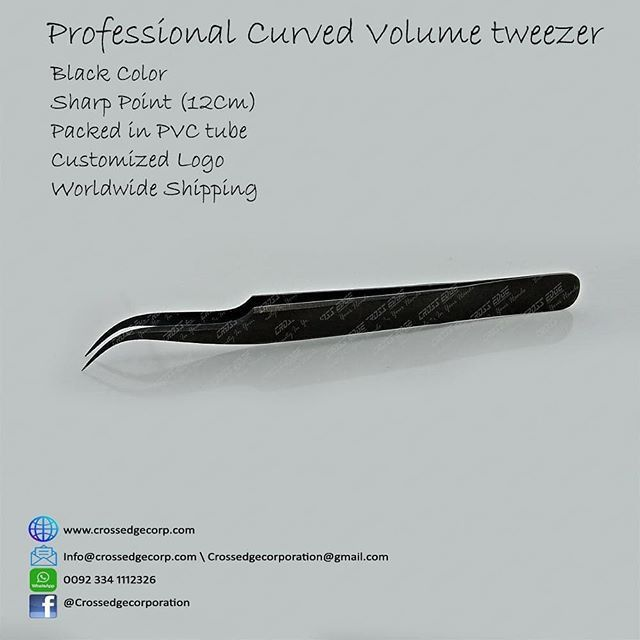 New eyelash tweezers. Message us for catalog with prices ...