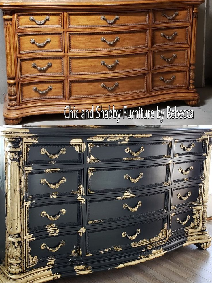 decorative rocks ideas black and gold before after dresser makeover pierre relooking de mobilier salon safavieh katia 3 drawer chest