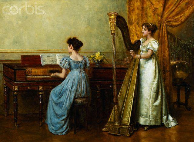 The Duet by George Goodwin Kilburne