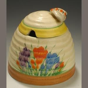 Crocus A Clarice Cliff Honey Pot For Newport Pottery