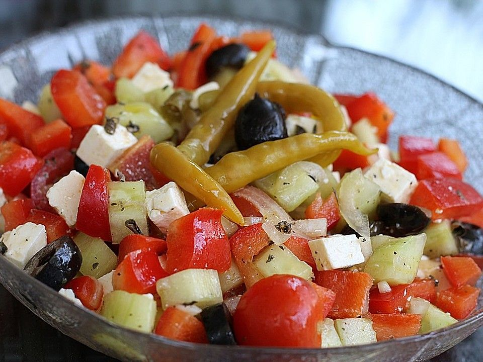 Griechischer Salat klassisch von heimwerkerkönig | Chefkoch