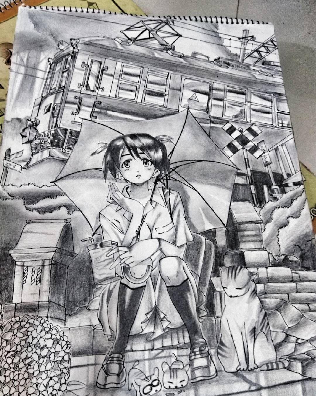 Waiting For The Rain Love Anime Manga Movie Japan Indian Mangartist Sketchbook Sketch Director Picoftheday Me I Anime Illustration Sketch Book