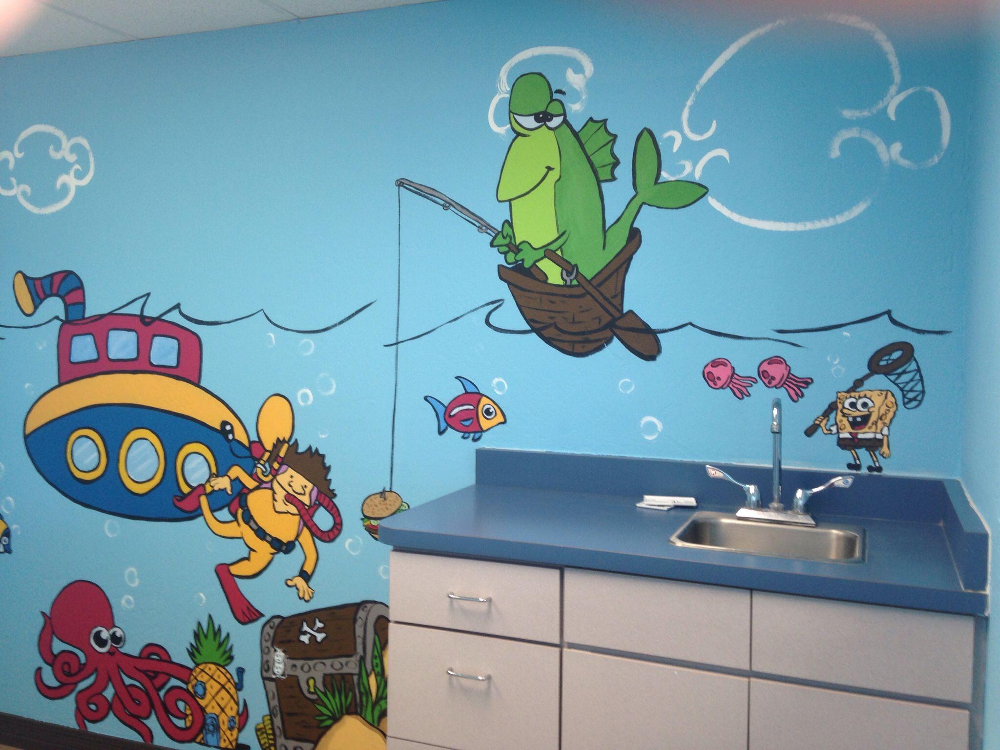 #mural #pediatrics #bethesdapediatrics #underthesea #fishing. Office  DecorOffice ...