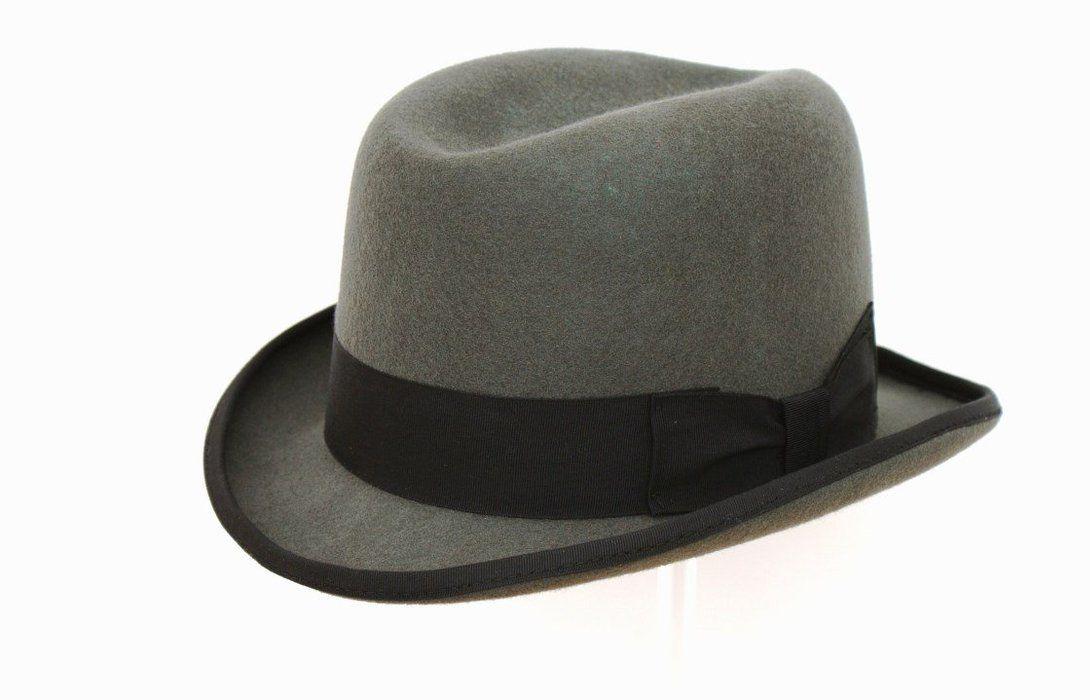 a21736bd Men's Traditional Wool Grey Homburg Hat Homburg, Trilby Hat, Felt Hat,  Churchill,