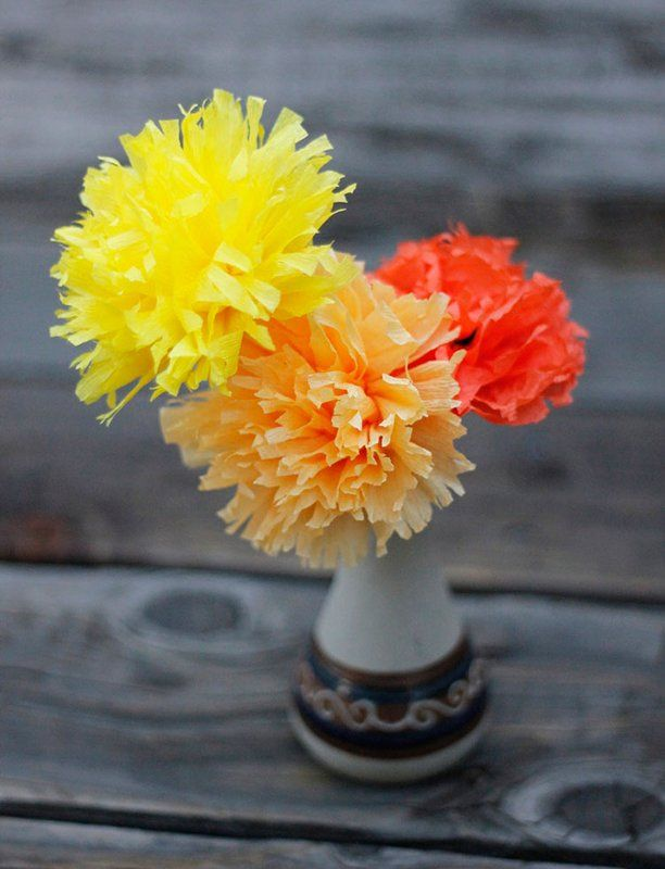 How To Make Cempazuchitl Flowers For Day Of The Dead Dia De Los