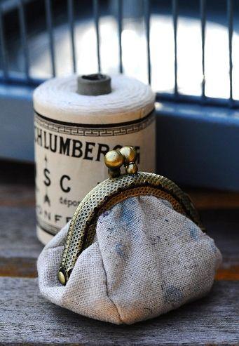 Coin purse & thread role