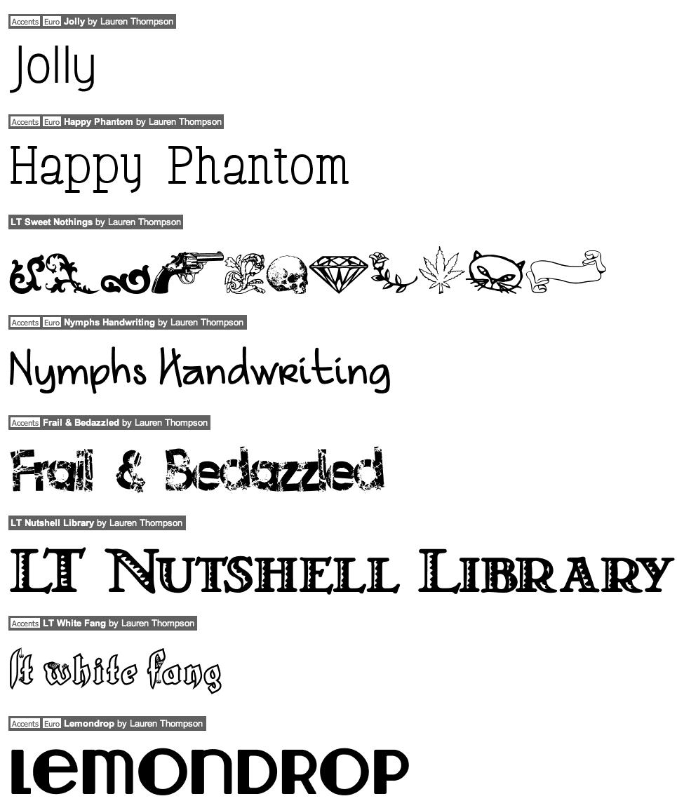 Victorian Fonts Dafont | file name: Lauren Thompson Catalog