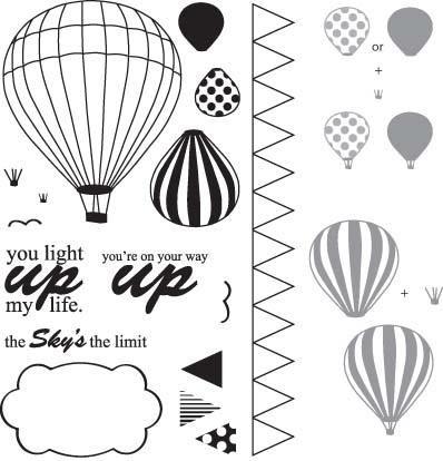 Hot Air Balloon Template Printable For Diy Craft 3d Card Use A
