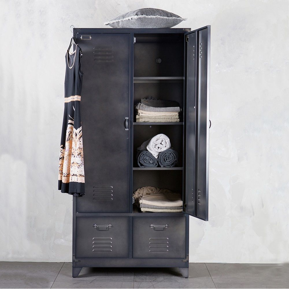 . Metal Locker Style Wardrobe in Black by BePureHome in 2019   Dream